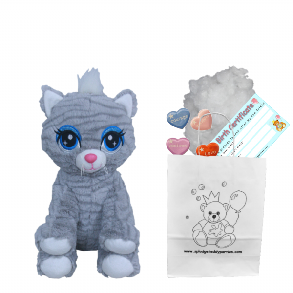 "8"" Grey Tabby Cat - Bear Making Kit"